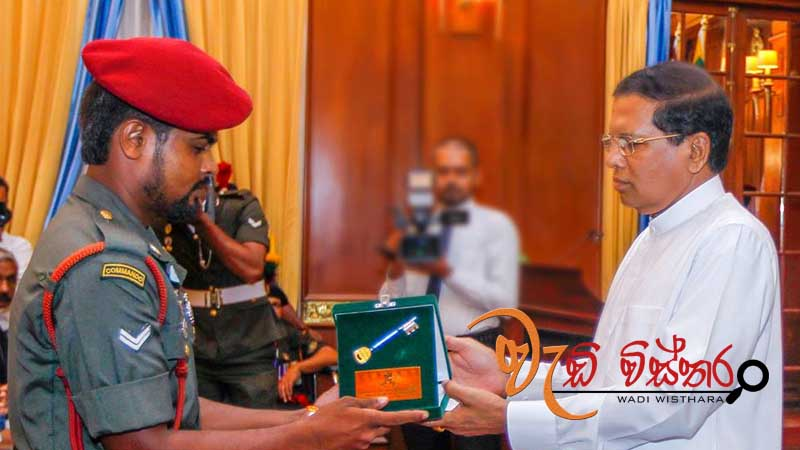 Houses built for the war heroes handed over by President Maithripala Sirisena