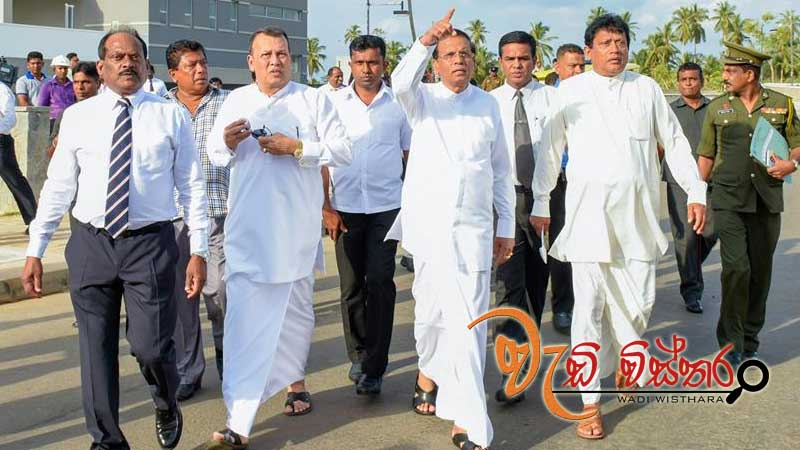 President Maithripala Sirisena made an inspection tour of the construction site of the NSBM Green University