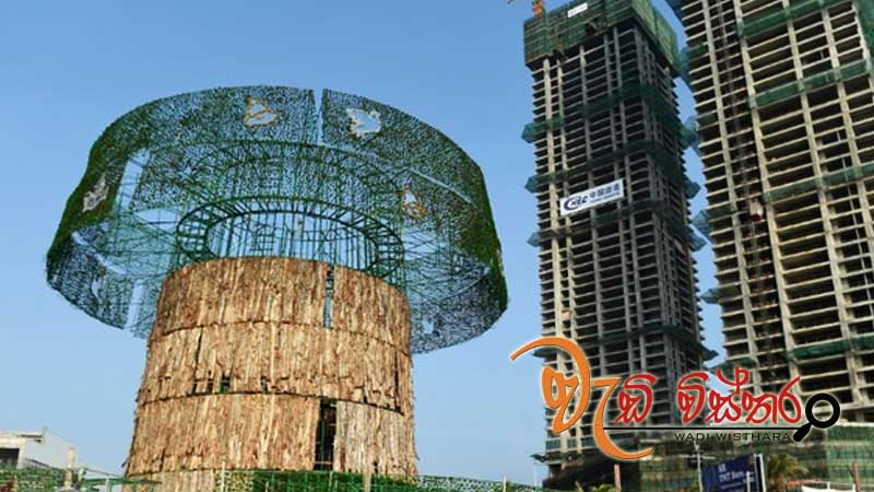 worlds-tallest-xmas-tree-constructions-recommenced-in-sri-lanka