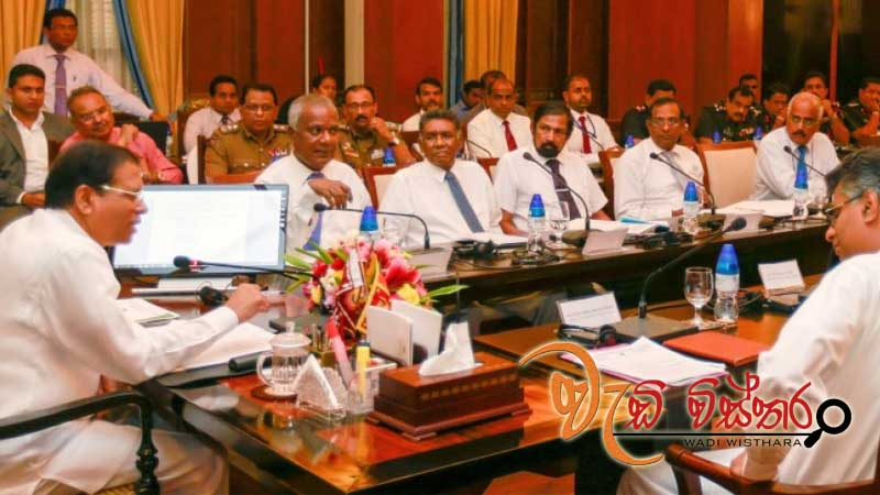 President presides over a discussion on waste management