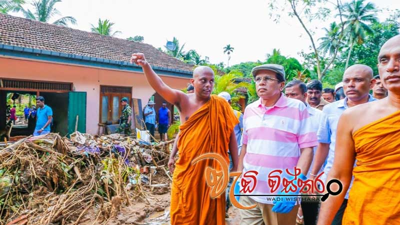 president-visits-affected-areas-in-kalutara-district