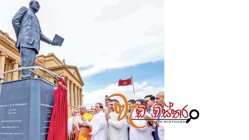 kannangara-statue-built-in-presidential-secretariat-unveiled-by-president